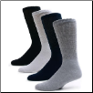 12 Pairs Sole Pleasers Diabetic Crew Socks - FREE shipping