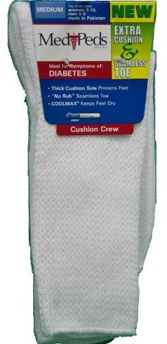 ... Socks Home › MediPeds › MediPeds Extra Cushion Crew Socks 3 pairs